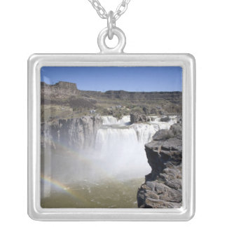 Shoshone Falls on the Snake River in Twin Falls, Silver Plated Necklace
