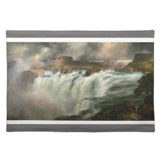 Shoshone Falls on the Snake River - Thomas Moran Cloth Placemat