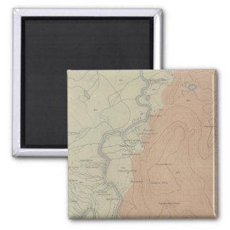 Shoshone Geyser Basin 2 Inch Square Magnet