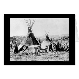Shoshoni Indian and Skin Tipis 1884 Card