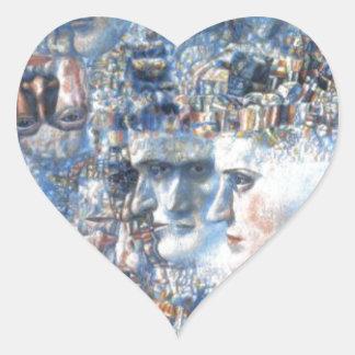 Shostakovich's First Symphony by Pavel Filonov Heart Sticker