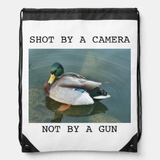 Shot By A Camera Drawstring Bag