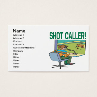 Shot Caller Business Card