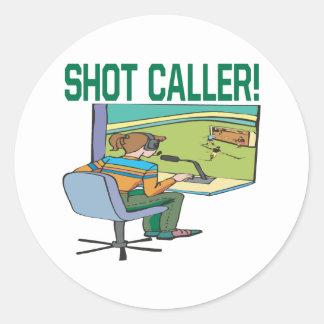 Shot Caller Classic Round Sticker