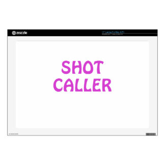 Shot Caller Decal For Laptop