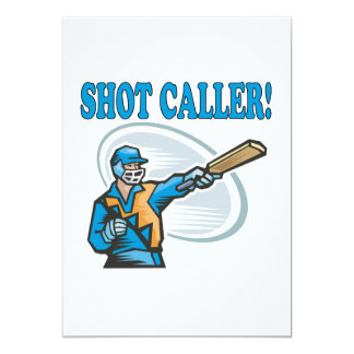 Shot Caller 5x7 Paper Invitation Card