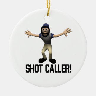Shot Caller Double-Sided Ceramic Round Christmas Ornament