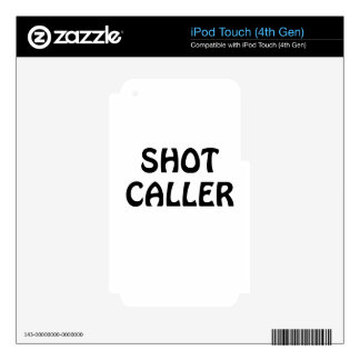 Shot Caller Skins For iPod Touch 4G