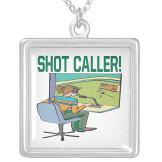 Shot Caller Square Pendant Necklace