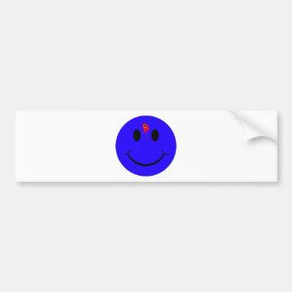 Shot Dead Head Smiley Face Bleeding Bullet Hole Bumper Sticker