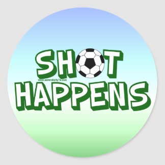 Shot Happens Classic Round Sticker