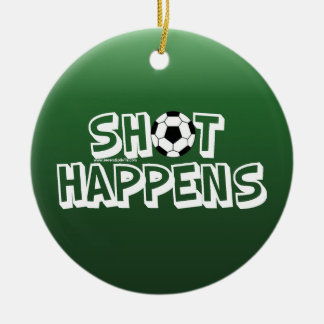 Shot Happens Double-Sided Ceramic Round Christmas Ornament