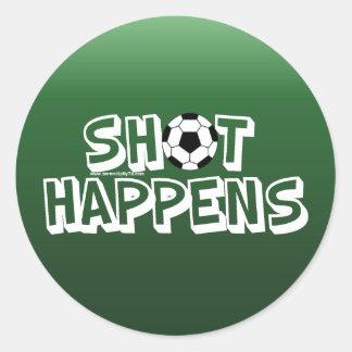 Shot Happens Round Sticker