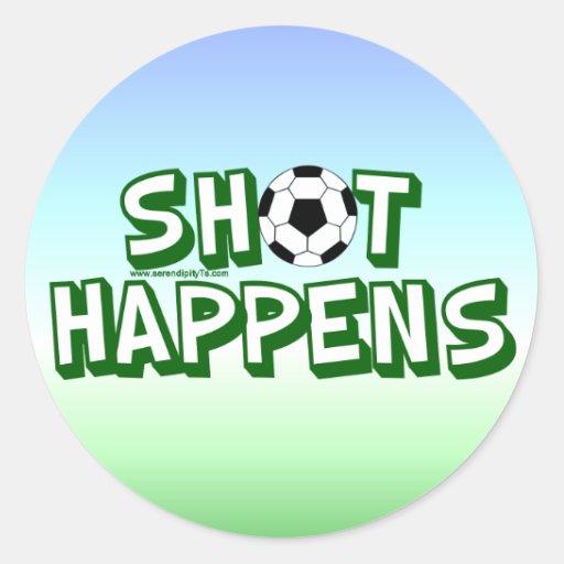 Shot Happens Stickers