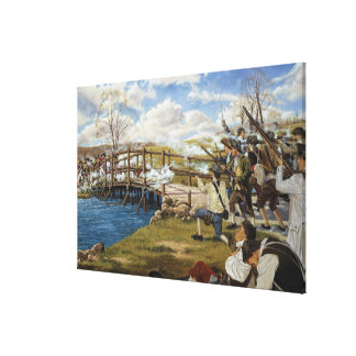 Shot Heard 'Round the World by Domenick D'Andrea Gallery Wrap Canvas