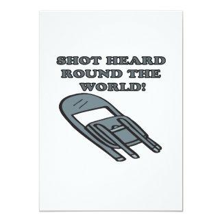 Shot Heard Round The World 5x7 Paper Invitation Card