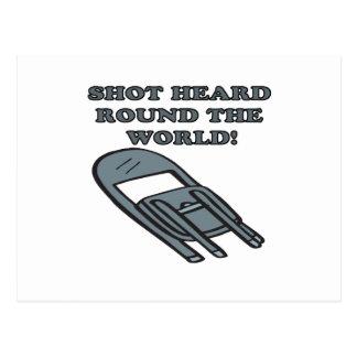 Shot Heard Round The World Postcard