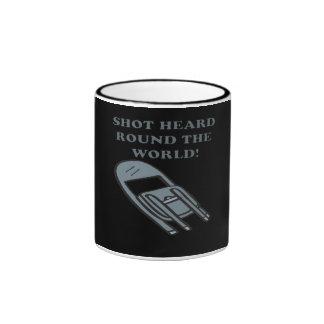 Shot Heard Round The World Ringer Coffee Mug