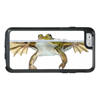 Shot of a Edible frog surfacing in front of a OtterBox iPhone 6/6s Case