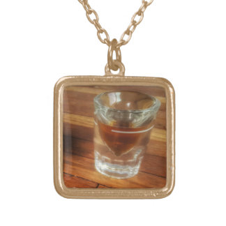 Shot of Whiskey Charm on women's necklace