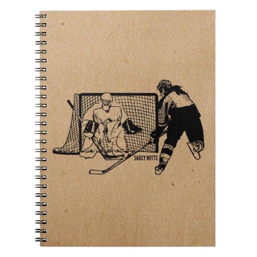 Shot On Net Hockey (female) Note Book