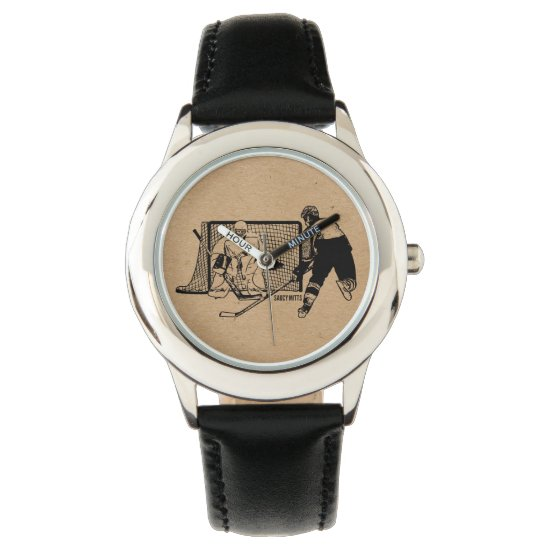 Shot on Net Hockey Wristwatch