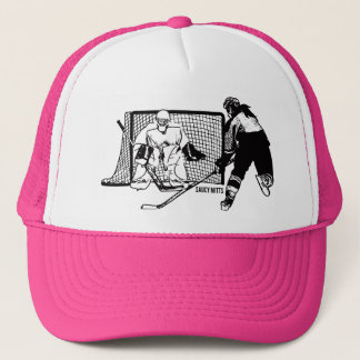 Shot On Net women's Hockey Trucker Hat