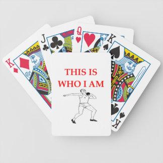shot put bicycle playing cards