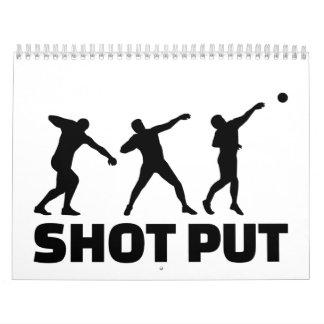 Shot put calendar