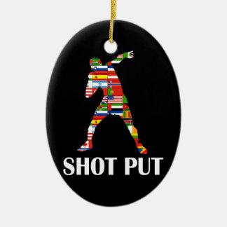 Shot Put Ceramic Ornament