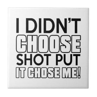 SHOT PUT DESIGNS SMALL SQUARE TILE