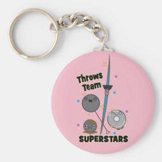 Shot Put Discus Hammer Javelin Throw Keychain Gift