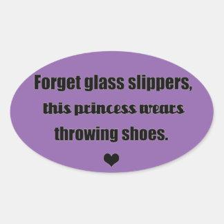 Shot put discus throw princess stickers