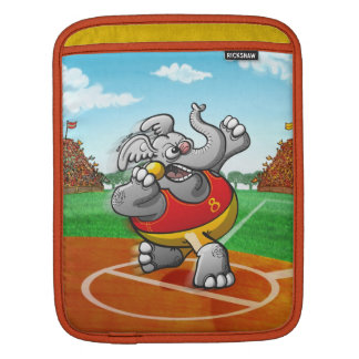 Shot Put Elephant iPad Sleeves