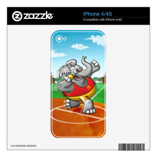Shot Put Elephant iPhone 4S Decal