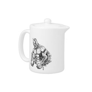 shot put gladiator teapot