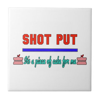 Shot Put It's a piece of cake for me Small Square Tile