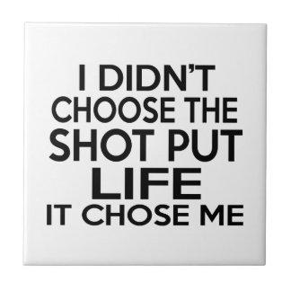 SHOT PUT LIFE DESIGNS SMALL SQUARE TILE
