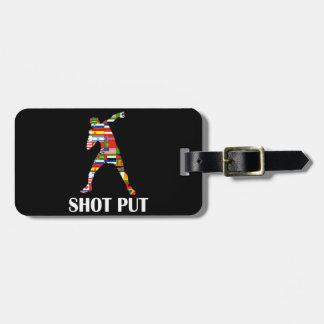 Shot Put Luggage Tag
