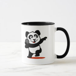 Combo Mug with Cute Shot Put Panda design
