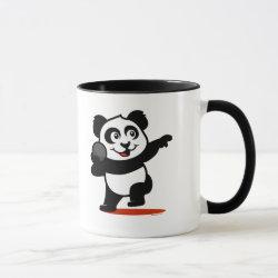 Combo Mug with Cute Shot Put Panda design