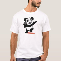 Men's Basic T-Shirt with Cute Shot Put Panda design