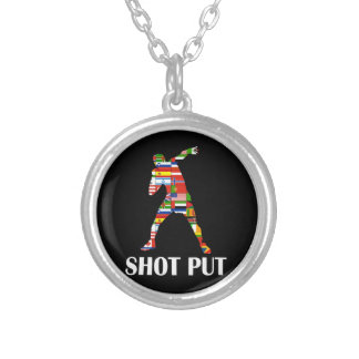 Shot Put Silver Plated Necklace