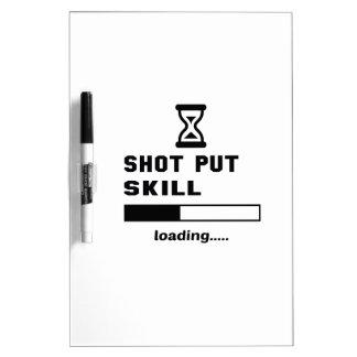 Shot Put skill Loading...... Dry Erase Board