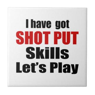 SHOT PUT SKILLS DESIGNS SMALL SQUARE TILE