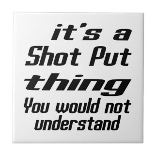 Shot Put THING DESIGNS Small Square Tile