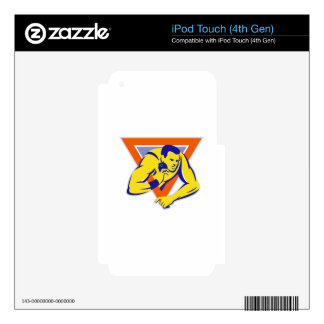 shot put throw track and field athlete iPod touch 4G decals