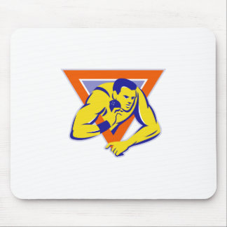 shot put throw track and field athlete mouse pad