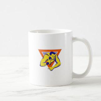 shot put throw track and field athlete classic white coffee mug
