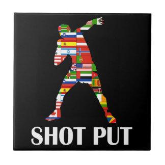 Shot Put Small Square Tile
